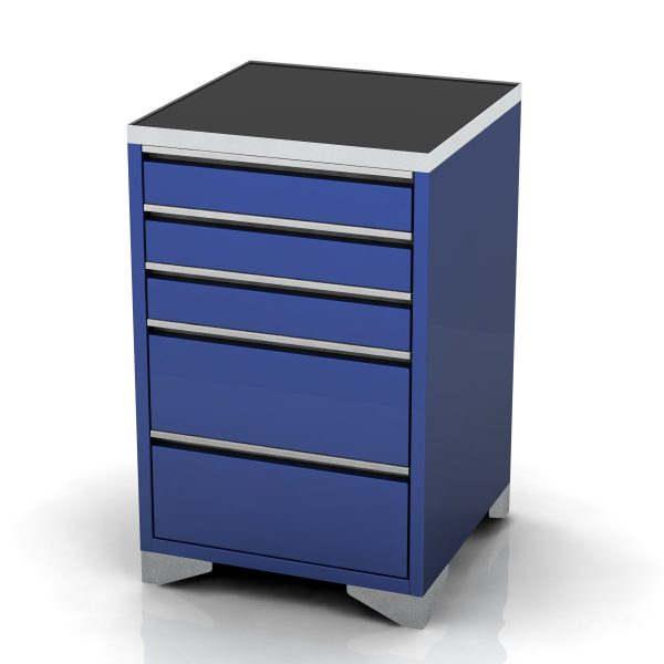 Garage base unit 5 drawer feet
