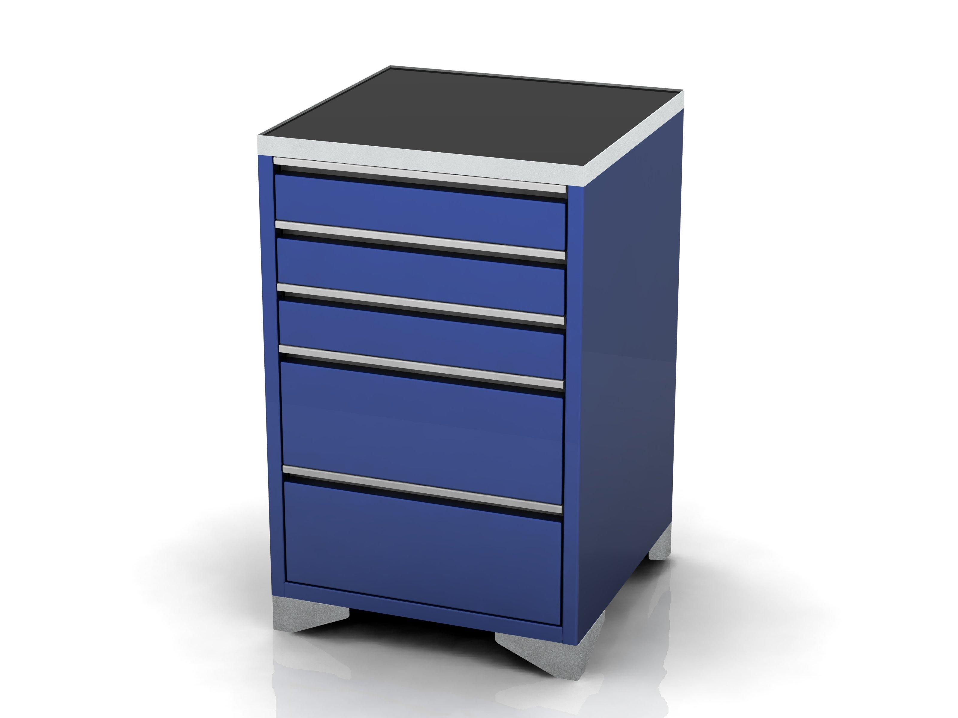 Garage base unit 5 drawer feet