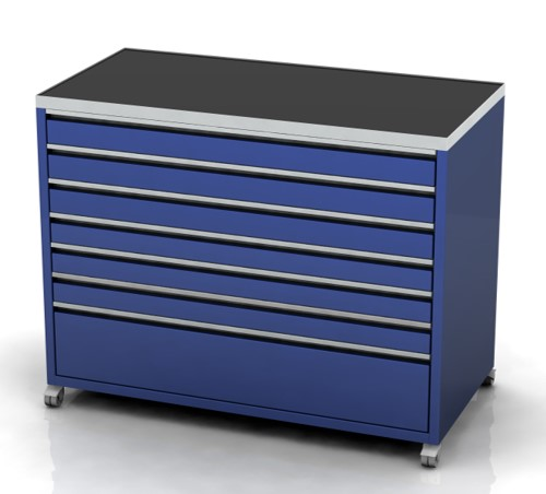 Garage furniture tool trolley 1200 wide 7 drawer