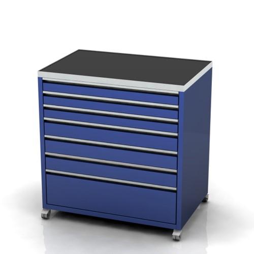 Garage furniture tool trolley 900 wide 7 drawer