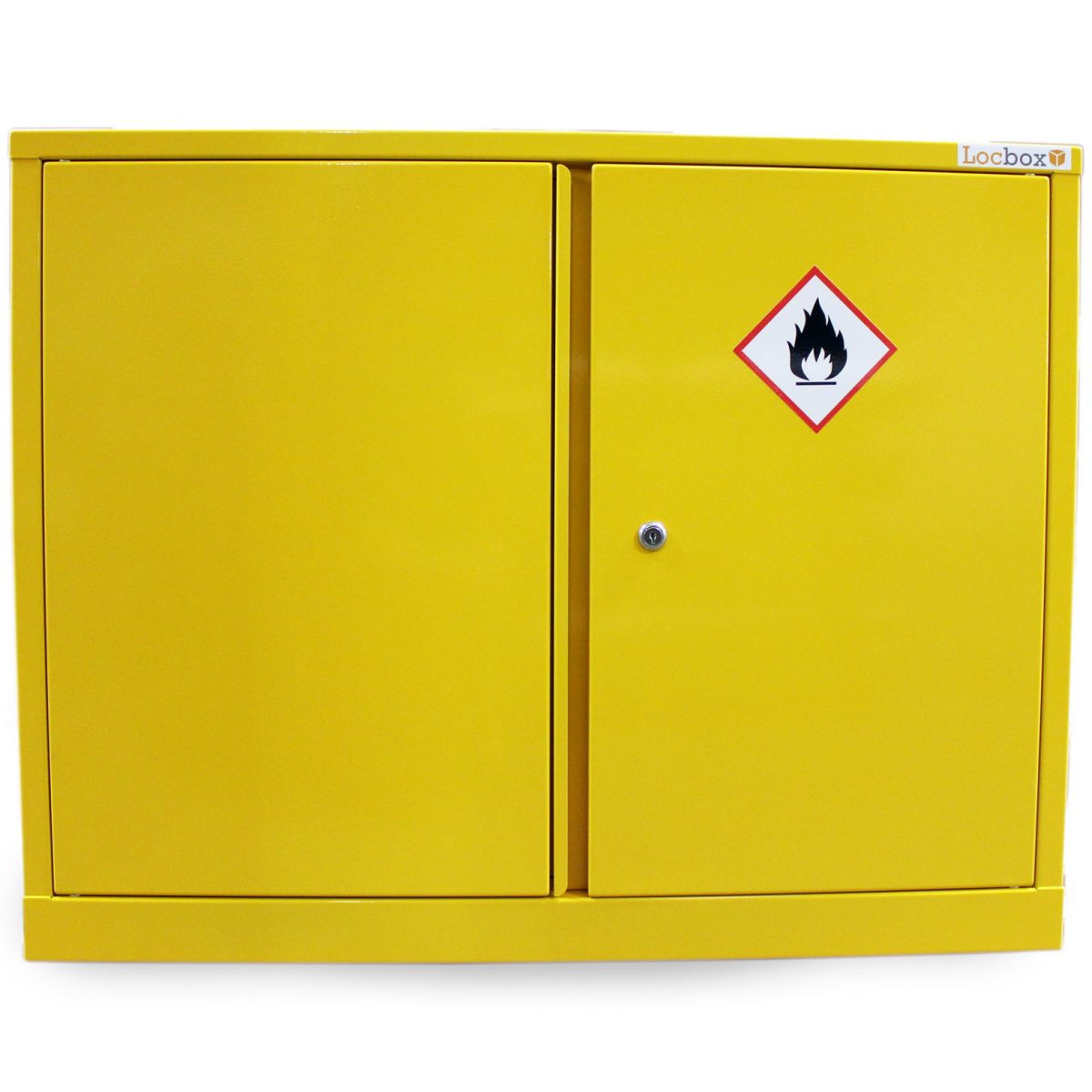 double door hazardous substance cabinet