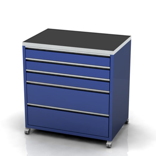 Garage furniture tool trolley 900 wide 5 drawer