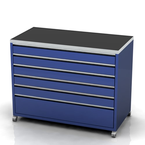 Garage furniture tool trolley 1200 wide 6 drawer castors