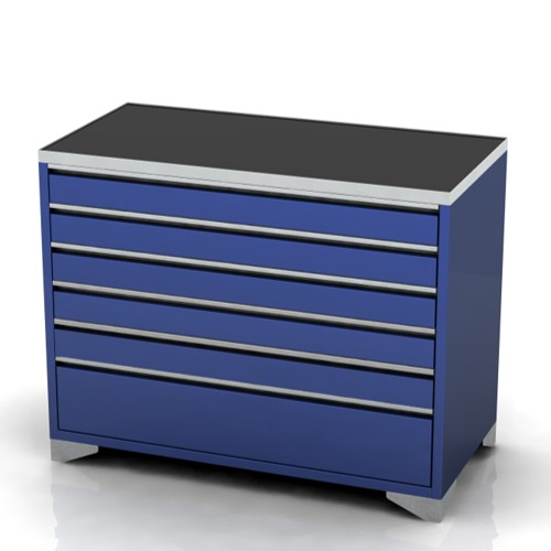 Garage furniture tool trolley 1200 wide 6 drawer feet
