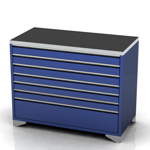 Garage furniture tool trolley 1200 wide 7 drawer feet