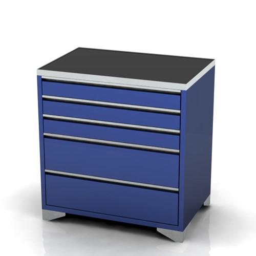Garage furniture tool trolley 900 wide 5 drawer feet