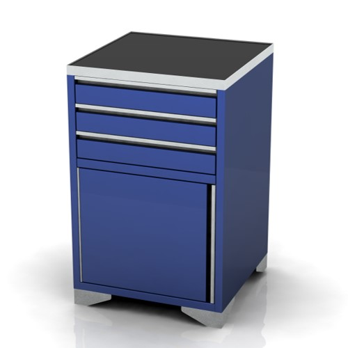 600mm Wide Base Unit 3 drawers and door on feet
